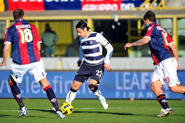 Lazio, otro equipo que pelea por el título de la Serie A, visitó al Bolo...