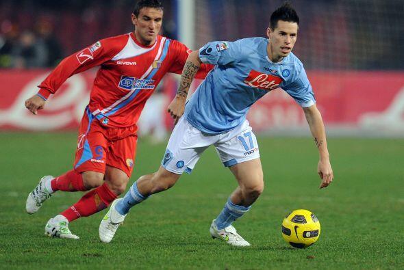 El encuento que cerró la jornada fue el Napoli vs. Catania.