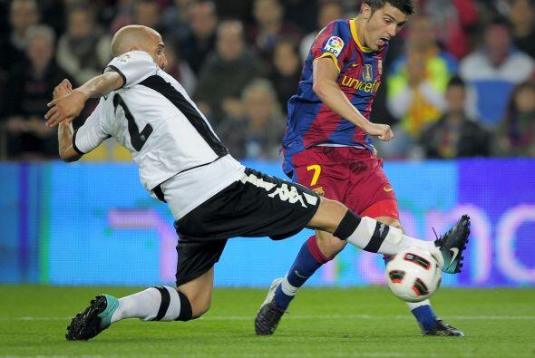 David Villa enfrentó a su ex equipo y no pudo convertir.