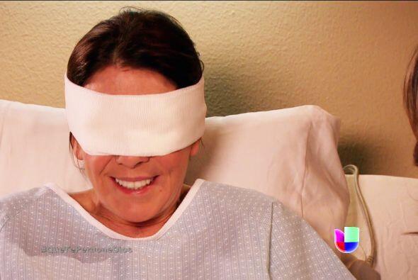 ¡Qué nervios Renata! Estás a punto de saber si recuperaste la vista.