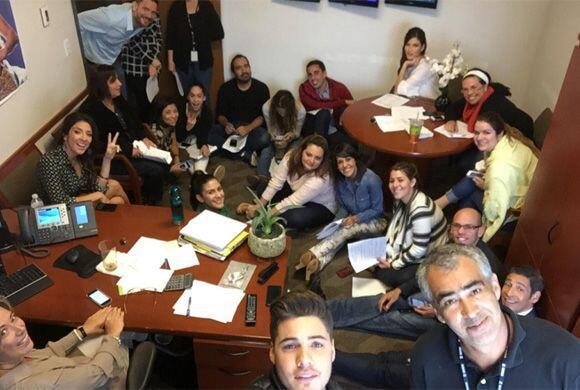 """""""Selfie en meeting de @DespiertaAmeric"""", mostró William.(Enero 14, 2015)"""