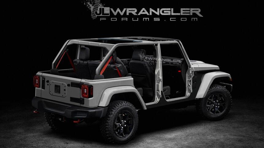 ¿Es esta la nueva Jeep Wrangler 2018? wrangler-2018-rear-stripped-tagged...
