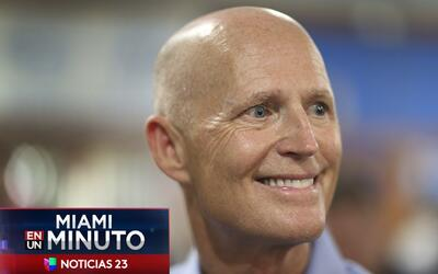 'Miami en un Minuto': Rick Scott, gobernador de Florida, firma este mart...