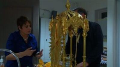 María Antonieta Collins estuvo en la iglesia donde todos los años llega...