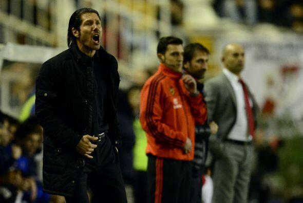 El técnico argentino del Atlético, Diego Simeone, destacó que su conjunt...