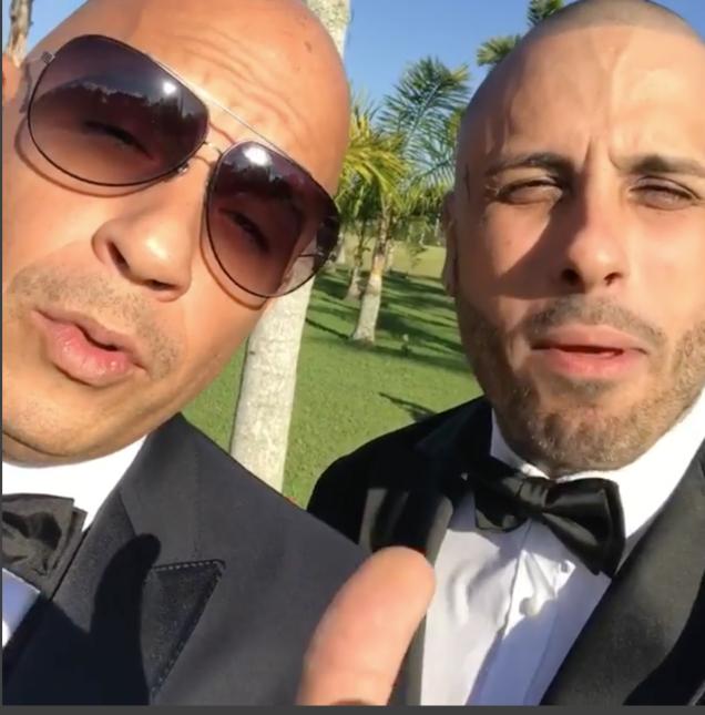 El actor Vin Diesel fue uno de los invitados a la ceremonia y en un vide...