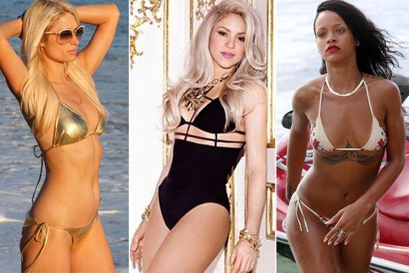 Shakira, Jennifer Aniston, Rihanna y muchos más famosas candentes se pon...
