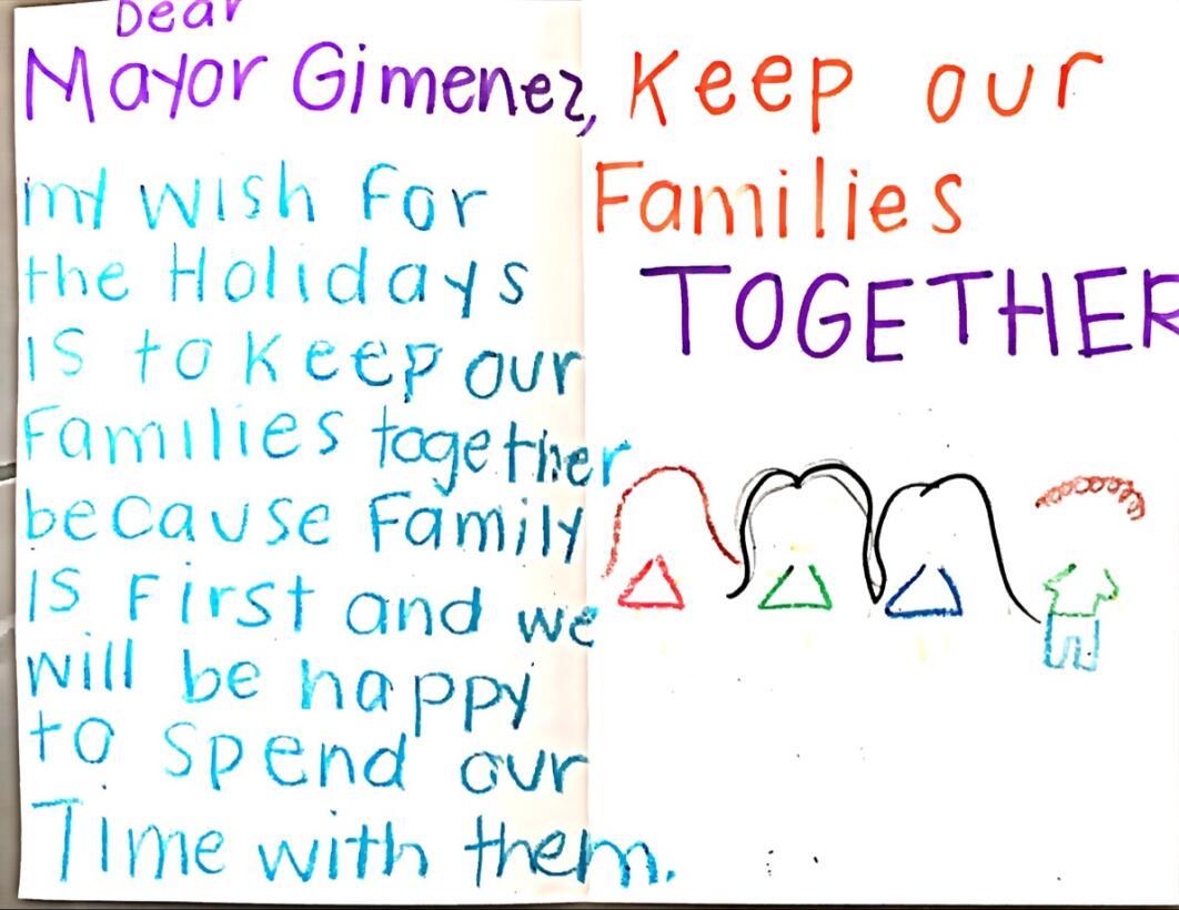 Estos son los deseos de los hijos de inmigrantes para esta Navidad We Be...