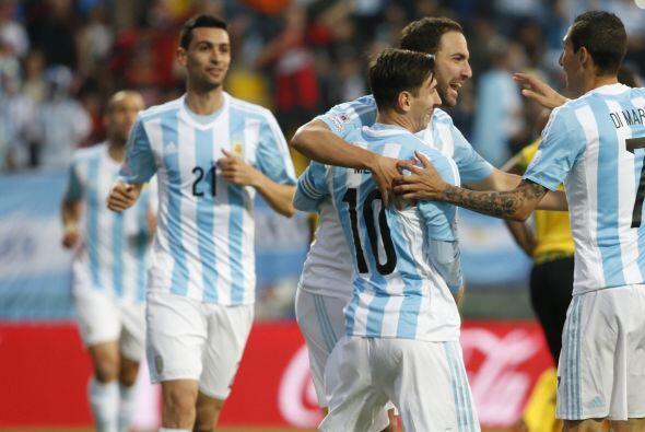 El gol argentino fue conseguido por Gonzalo Higuain.