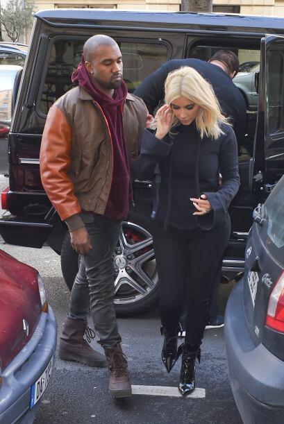 Kim Kardashian y Kanye West siguen en París.