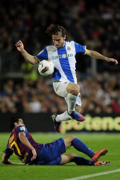 El Espanyol luchó ante un Barcelona que mostró su mejor cara.