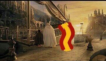 Frodo, Gandalf y la selección española listos para irse. T...