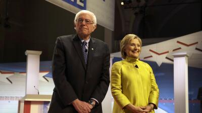Berni Sanders y Hillary Clinton en Wisconsin