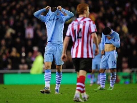 Manchester City cayó ante el Sunderland como visitante por 1-0 y...