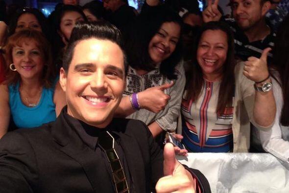 Alejandro Chabán con el público