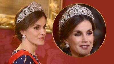 La reina Letizia se pone la tiara de Sofía y luce más monárquica que nunca (esto sabemos de esta joya)