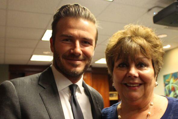 Beckham y Ninoska Pérez Castellón, personalidad de Radio Mambí 710 AM