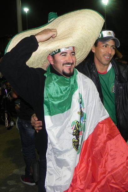 """""""México, México"""" era el grito de batalla."""