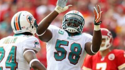La llegada de Dannell Ellerbe a los Miami Dolphins hizo que el equipo se...