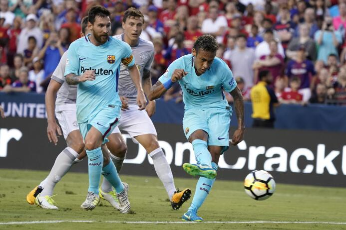 Los últimos momentos de Neymar como jugador de Barcelona 636367216084193...