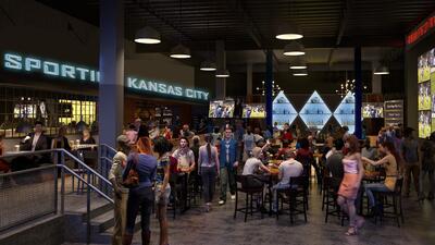 Un render del bar del Sporting Kansas City.