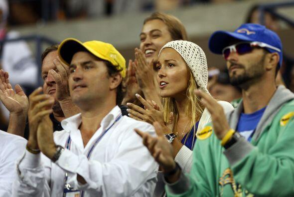 Jelena Ristic, novia de Djokovic, estuvo apoyando en todo momento al ten...