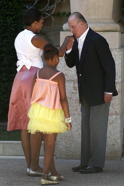 El Rey obsequió a Michelle Obama unas semillas de plantas hortícolas esp...