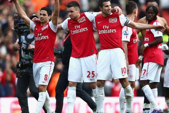 Siete goles en este juegazo y victoria final del Arsenal por 5-2, cuando...