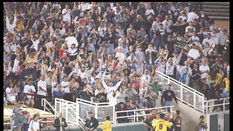 Primer partido de LA Galaxy en 1996