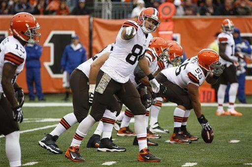 Jordan Cameron, ala cerrada de los Cleveland Browns (AP-NFL)