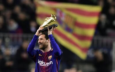Messi festejó su cuarta Bota de Oro
