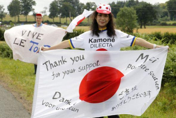 El Tour de Francia tiene fanáticos de todo el mundo.