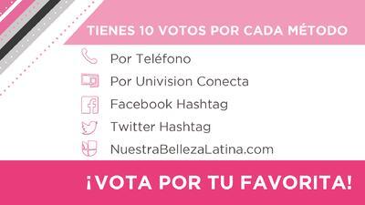 ¿Cómo votar por tu chica favorita en Nuestra  Belleza Latina?