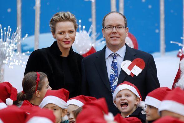 Y, ¿por qué no? la realeza de Mónaco aprovechó para sacarse la foto tamb...