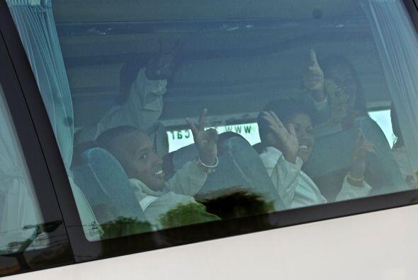 Los autobuses se dirigieron a diferentes centros en Madrid que las ONG s...