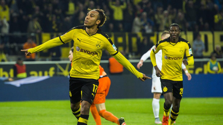 Dortmund goleó con triplete de Aubameyang