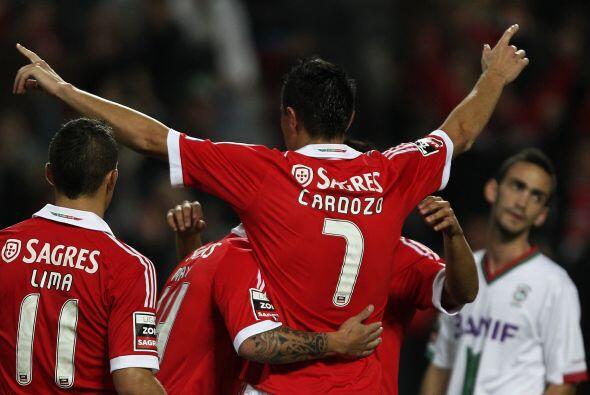El 'Tacuara' es una máquina goleadora para beneplácito del Benfica.