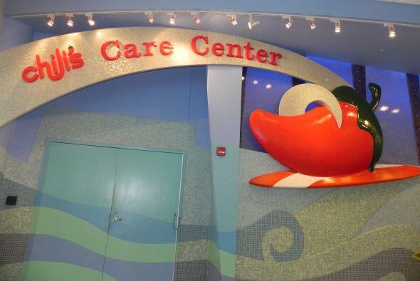 El Salón de Cuidados de Chili, en forma de barco, es precioso y ayuda a...