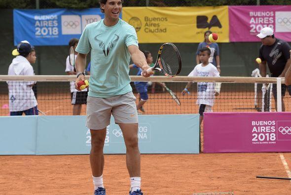 Como Orlando, Gustavo Carrizo, de 15, también jugó con Nadal, y tuvo el...