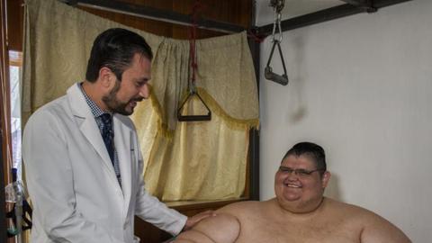 hombre más gordo