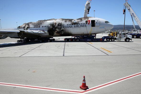 Tras las investigaciones, lo que quedó del vuelo 214 de Asiana Ai...