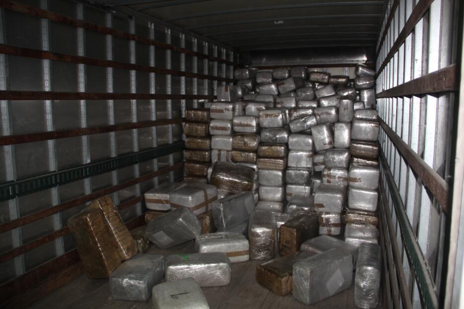 En la garita Otay Mesa, en California, agentes hallaron 319 paquetes que...