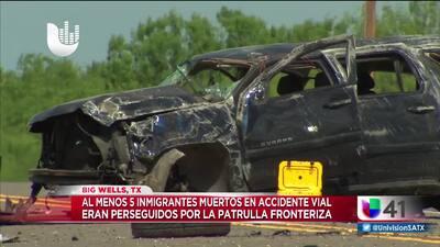 Persecución deja 9 inmigrantes heridos y 5 muertos