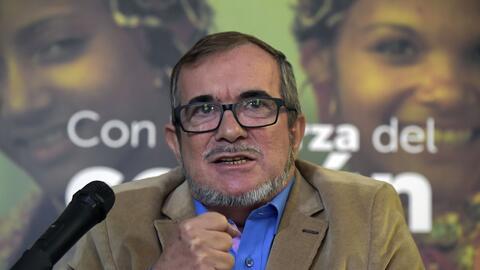 Rodrigo Londoño durante una conferencia de prensa el pasado 28 de...