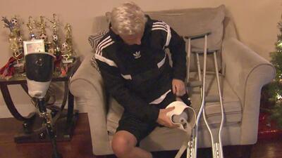 Christopher Rivera, el joven deportista que sigue luchando por sus sueños pese a perder una pierna