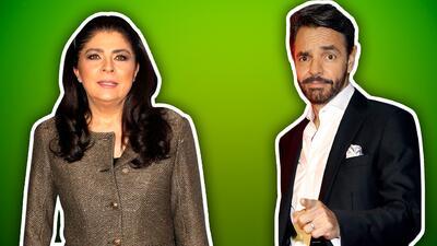 Eugenio Derbez le dice Grinch a Victoria Ruffo