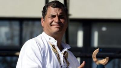 Rafael Correa recibió el premio Rodolfo Walsh en la categoría de Preside...
