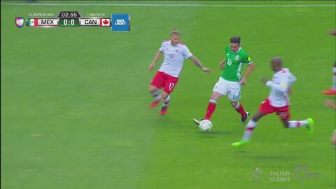 Héctor Herrera se quita con clase a sus rivales canadienses