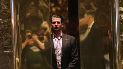 Donald Trump Jr. en una foto de archivo tomada en la Torre Trump de Nuev...