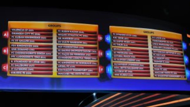 Así quedaron los grupos de la Liga Europa.